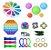 Kit com 20 peças Push Pop Bubble Sensory Fidget Toy Anti Stress IV - Alta qualidade  - Imagem 1