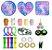 Kit com 24 peças Push Pop Bubble Sensory Fidget Toy Anti Stress IV - Alta qualidade  - Imagem 1