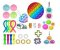 Kit com 28 peças Push Pop Bubble Sensory Fidget Toy Anti Stress - Alta qualidade  - Imagem 1
