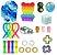 Kit com 24 peças Push Pop Bubble Sensory Fidget Toy Anti Stress VI - Alta qualidade  - Imagem 1