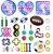 Kit com 32 peças Push Pop Bubble Sensory Fidget Toy Anti Stress - Alta qualidade  - Imagem 1