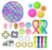 Kit com 25 peças Push Pop Bubble Sensory Fidget Toy Anti Stress II - Alta qualidade  - Imagem 1