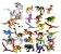 Kit com 2 Dinossauros Grandes + 24 Dinossauros  Pequenos Jurassic Park - Blocos de Montar  - Imagem 1