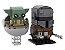 Brickheadz Baby Yoda e Mandalorian +226 peças Star Wars - Blocos de montar 15Cm x 10Cm x 5Cm - Imagem 1