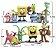 Kit com 08 Personagens Bob Esponja Calça Quadrada - Animes Geek - Imagem 2