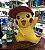 Pikachu tamanho real Escala 1:1 40 Cm Pokémon Nintendo - Imagem 2