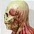 Máscara Cosplay Látex Esqueleto Zumbi - Fantasias - Imagem 4