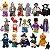 Monstros Halloween Dia das Bruxas Kit com 16 Personagens - Blocos de Montar  - Imagem 2