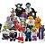 Monstros Halloween Dia das Bruxas Kit com 16 Personagens - Blocos de Montar  - Imagem 1