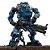 Joytoy Steel Bone Boneco Robô Action Figure Ver. Bone Blue  - Imagem 1