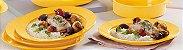 Tupperware Pratos Outdoor Kit 4 peças Amarelo Piquenique - Imagem 1