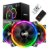 Cooler para Gabinete Darkflash (12x12) DR12 Pro RGB 3 Peças - Imagem 1