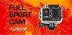 """Câmera Filmadora Fullsport Cam 2.0 Full HD Lente Angular 140° Tela 2.0"""" WiFi - Atrio  - Imagem 1"""