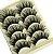 Caixa com 5 pares de Cílios Postiços Volumosos 007 - Imagem 1