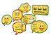 Kit Plaquinhas Decorativas - Emojis - 09 unidades - Imagem 1