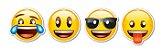 Máscara - Emoji - 08 unidades - Imagem 1