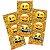 Adesivo Retangular Decorativo - Emoji - 04 cartelas - Imagem 1