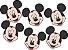Mini Carinhas EVA - Mickey Mouse - 06 unidades - Imagem 1