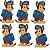 Micro Personagem EVA - Patrulha Canina - Chase - 6 unidades - Imagem 1
