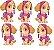 Micro Personagem EVA - Patrulha Canina - Skye - 06 unidades - Imagem 1