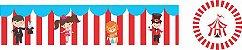 Kit Adesivos para Personalizar 9x2 - Circo 20 unidades - Imagem 1