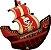 Balão Metalizado Shape - Navio Pirata - 40 Polegadas - Imagem 1