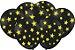 Balão Latéx - Neon Preto com Amarelo - 25 Unidades  - Imagem 1