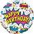 Balão Metalizado  Birthday - Branco - Imagem 1