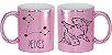 Caneca Cerâmica Cromada Rosa - Signo Peixe - Imagem 1
