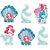 Decoração de Mesa - Festa Ariel sereismo - 6 unidades - Imagem 1