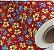 Tnt Estampado - Floral vermelho - 1m - Imagem 1