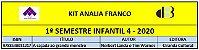 KIT ANALIA FRANCO - 4 INFANTIL 1º SEMESTRE 2020 - Imagem 1