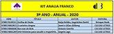 KIT ANALIA FRANCO - 3º ANO ANUAL 2020 - Imagem 1