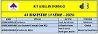 KIT ANALIA FRANCO ENSINO MÉDIO - 1ª SÉRIE - 4º BIMESTRE 2020 - Imagem 1