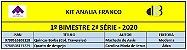 KIT ANALIA FRANCO ENSINO MÉDIO - 2º SÉRIE - 1º BIMESTRE 2020 - Imagem 1