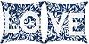 KIT Almofada digital LOVE azul marinho - Imagem 1