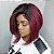 Front lace Melissa 1b/red (human hair blend ) - Imagem 6