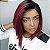 Front lace Melissa 1b/red (human hair blend ) - Imagem 1
