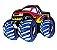 JIBBITZ MONSTER TRUCK ROXO 00096 -  - Imagem 1