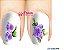 Películas de unha (SerieLP) - Floral Lilas - Imagem 1
