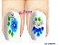 Películas de unha (SerieLP) - Floral Azul - Imagem 1