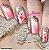 Películas decorados para unhas - Floral Rosinha - Imagem 1