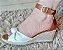 608 - Anabela 5cm branco com marrom - Imagem 4