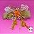 Coleira Glamu Pet com Detalhes em Fitas e Pedrarias Laranja - Imagem 4