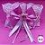 Coleira Glamu Pet Rosa com Detalhes em Renda e Fitas - Imagem 1