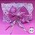 Coleira Glamu Pet Rosa com Detalhes em Renda e Fitas - Imagem 2