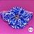 Coleira Glamu Pet Branca com Detalhes em Fita Estampada Azul e Pedrarias - Imagem 2