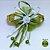 Coleira Glamu Pet Dourada com Detalhes em Fitas e Pedraria Verde - Imagem 4