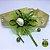 Coleira Glamu Pet Dourada com Detalhes em Fitas e Pedraria Verde - Imagem 3