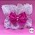 Coleira Glamu Pet Rosa com Detalhes em Renda Dupla e Pérolas - Imagem 4